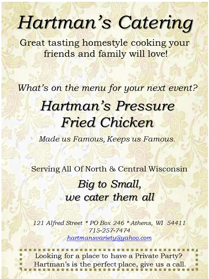 Hartmans Catering Web Page v2